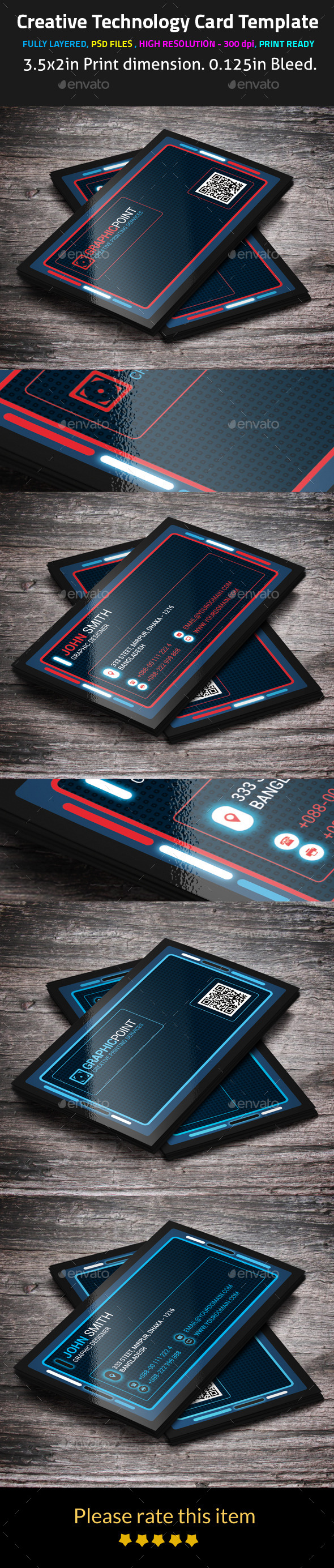 Creative Technology Card Template - Creative Business Cards