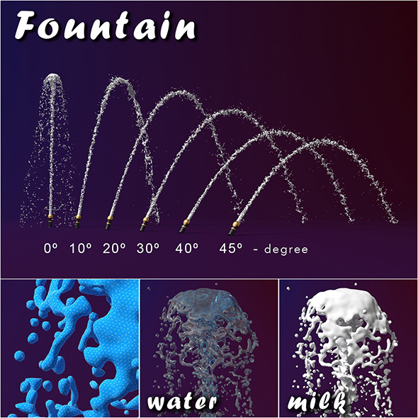 Fountain splash - 3DOcean Item for Sale