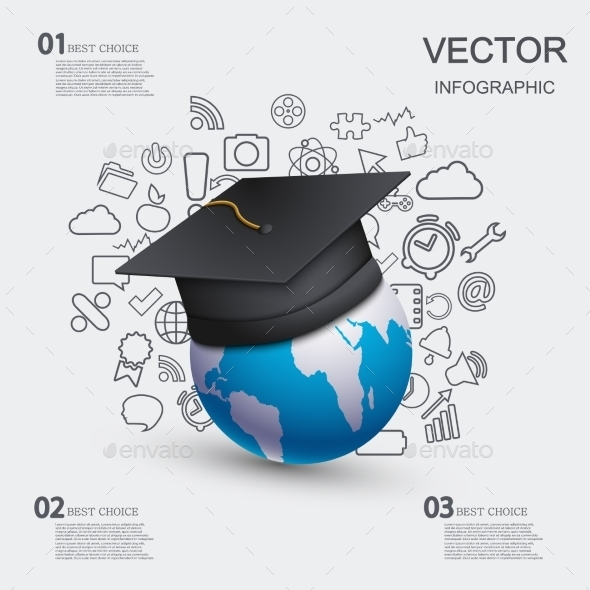 Education Infographic Background.  - Business Conceptual