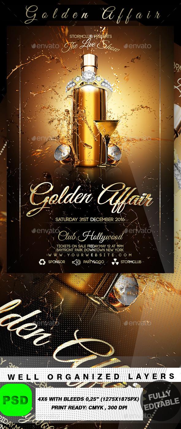 Golden Affair - Events Flyers
