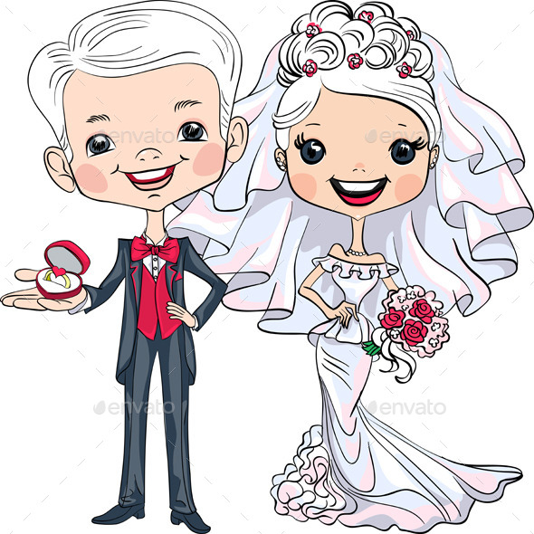 Bride and Groom - People Characters