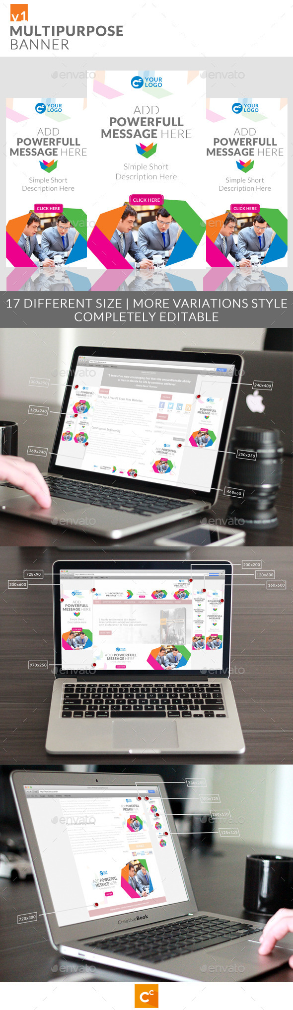 Multipurpose Banner Ads - Banners & Ads Web Elements