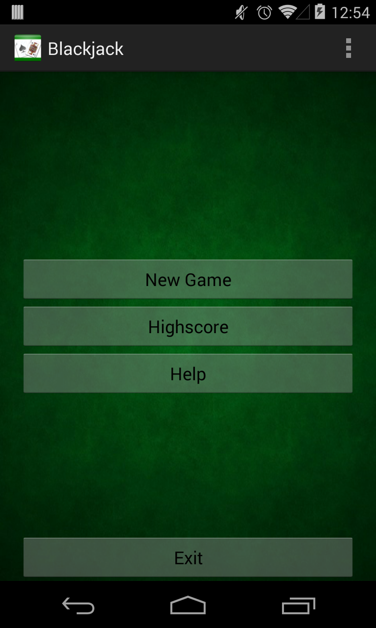 Blackjack table top view - Blackjack Card Game With Admob