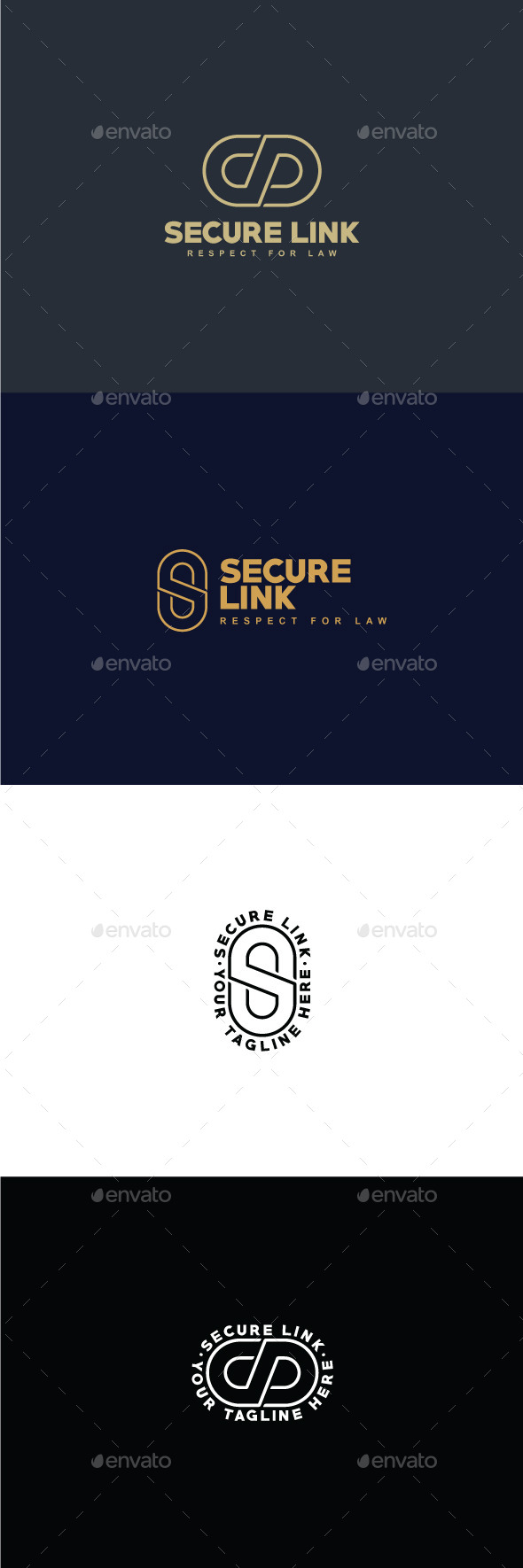Secure Link Logo Template - Vector Abstract