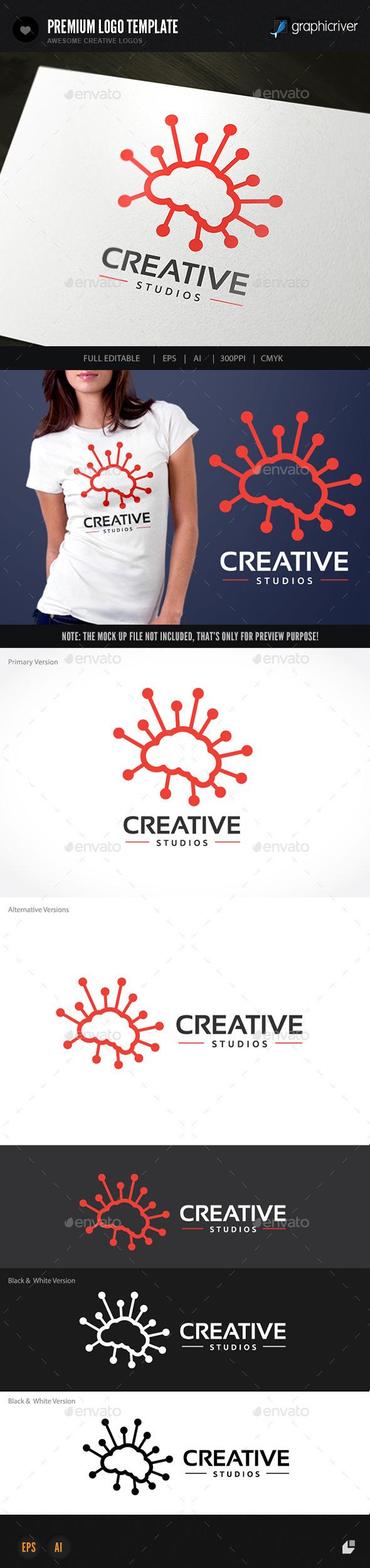 Brain Creative - Humans Logo Templates