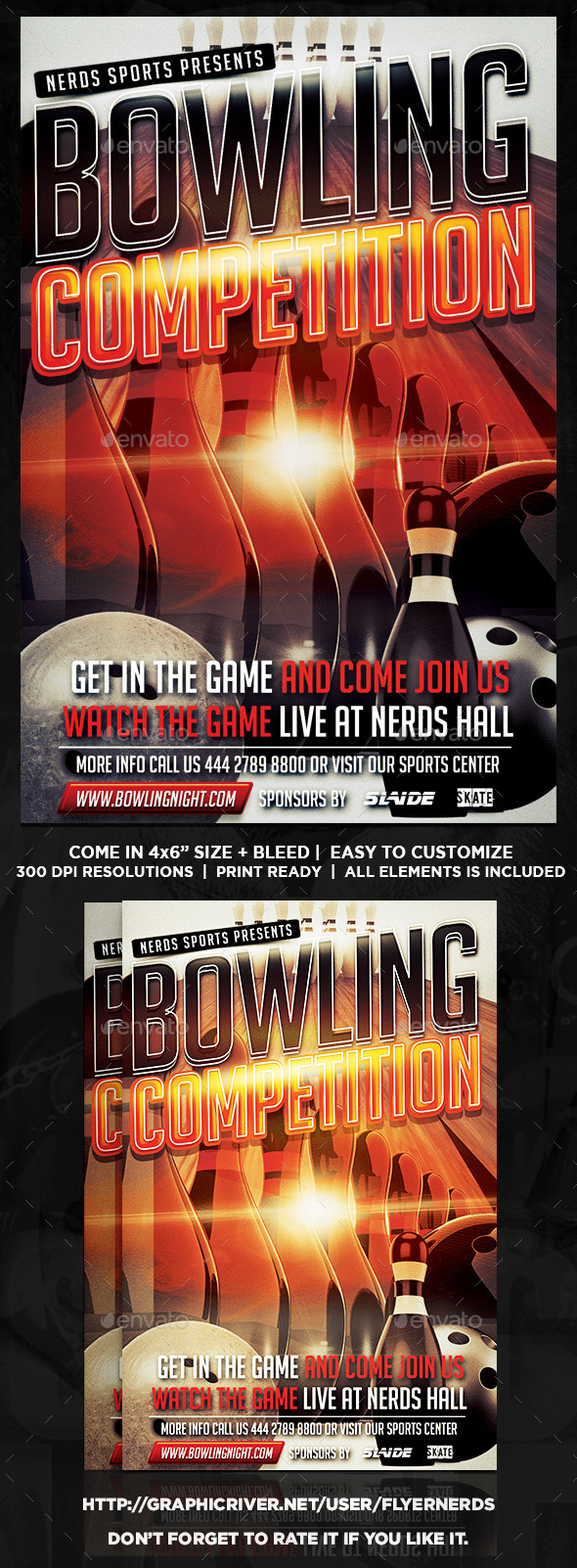 Bowling Competition Flyer