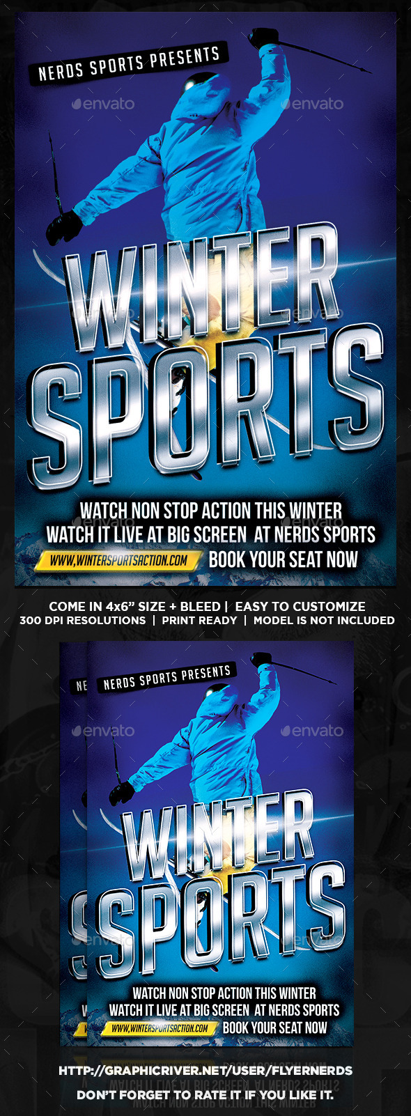 Winter Sports Flyer - Sports Events