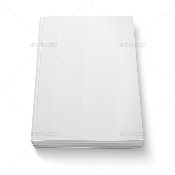 Blank Softcover Book Template - Man-made Objects Objects