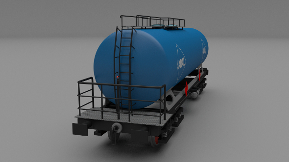 Aral train tanker car - 3DOcean Item for Sale