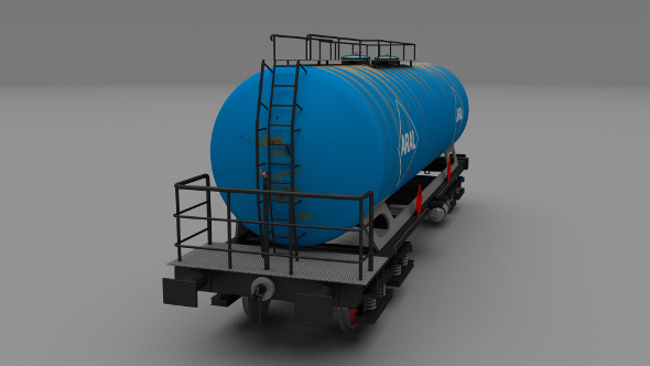 Aral rusty train tanker car - 3DOcean Item for Sale