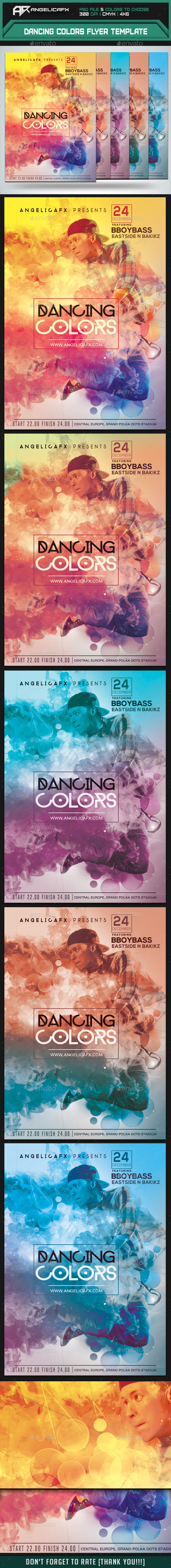 Dancing Colors Flyer Template - Events Flyers
