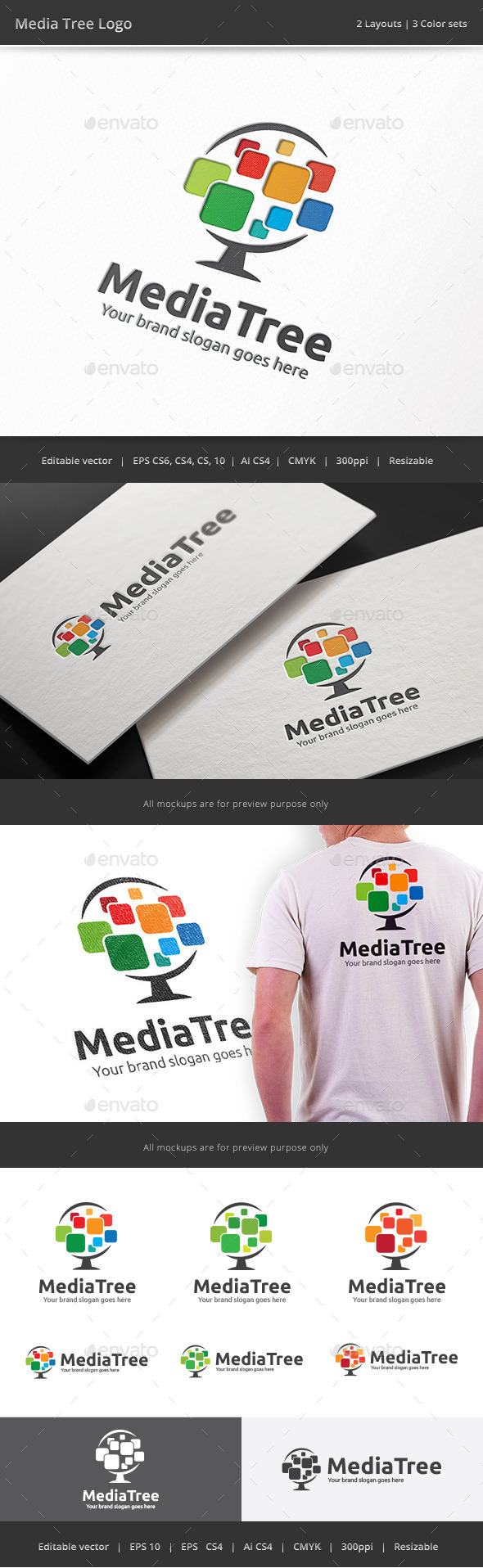 Media Pixel Tree - Vector Abstract