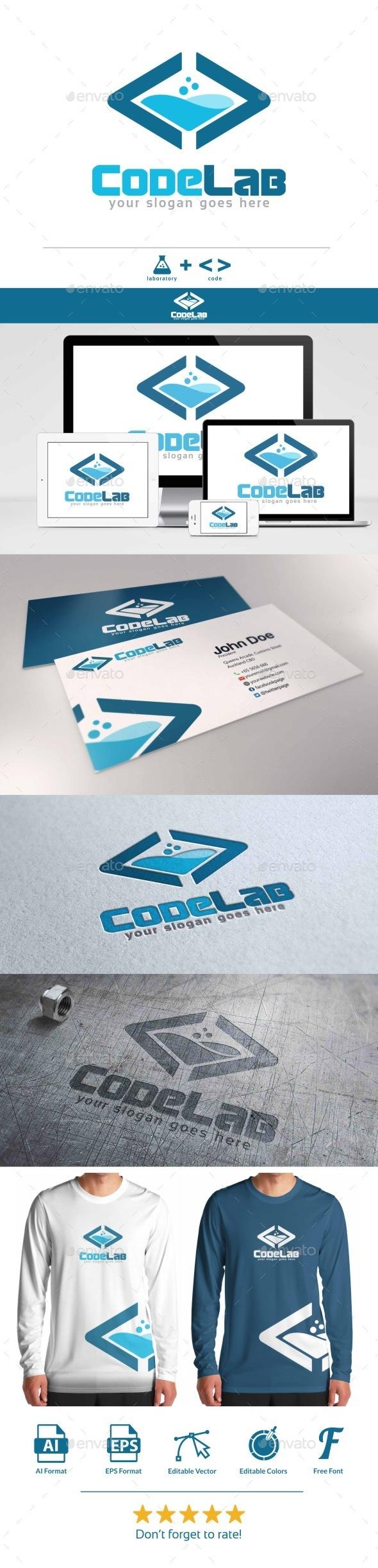 Code Lab Logo - Symbols Logo Templates