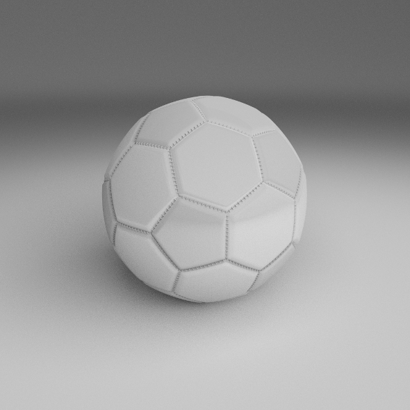 High Quality White Football - 3DOcean Item for Sale