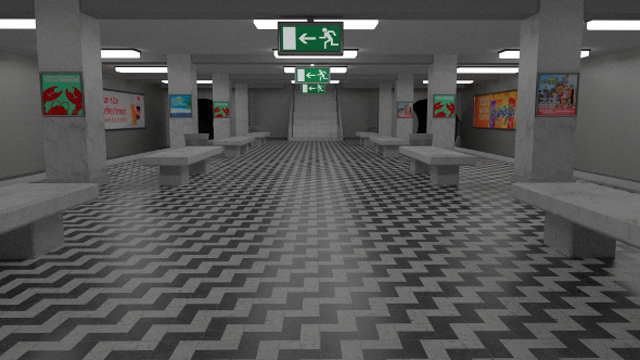 Subway Station - 3DOcean Item for Sale