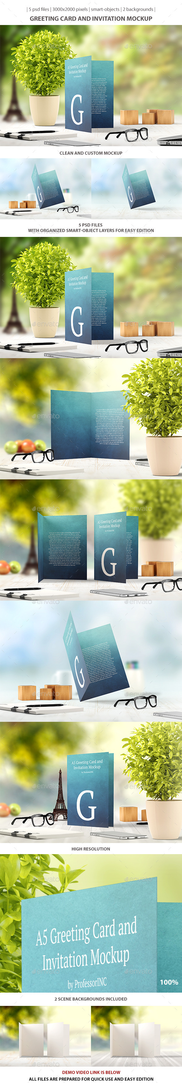 Greeting Card and Invitation Mockup - Miscellaneous Print
