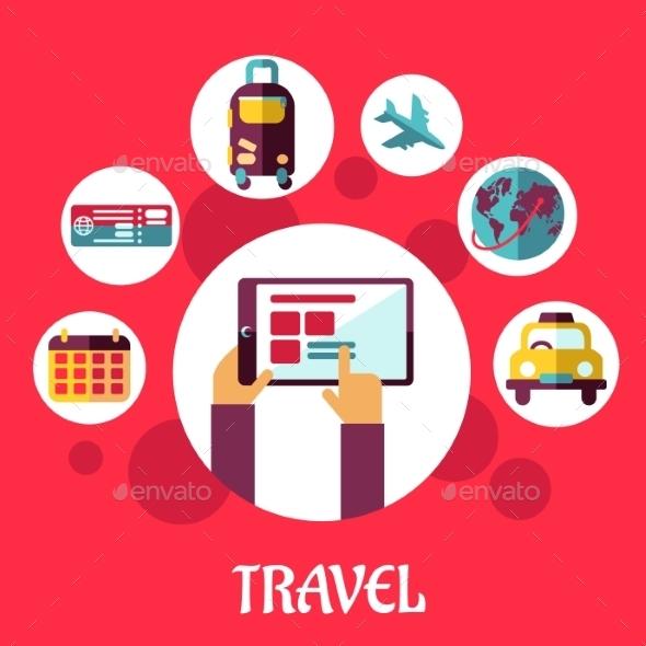 Travel Flat Concept - Travel Conceptual