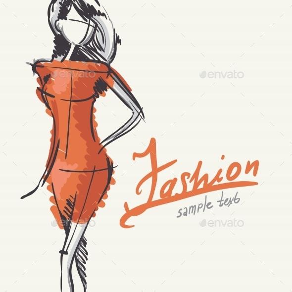 Young Fashion Woman - Commercial / Shopping Conceptual