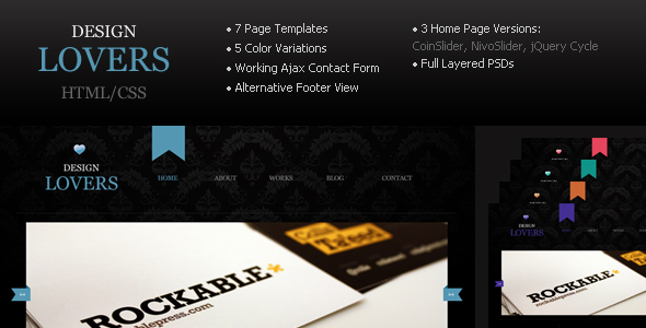 Free Download Design Lovers - Html/CSS Template Nulled Latest Version