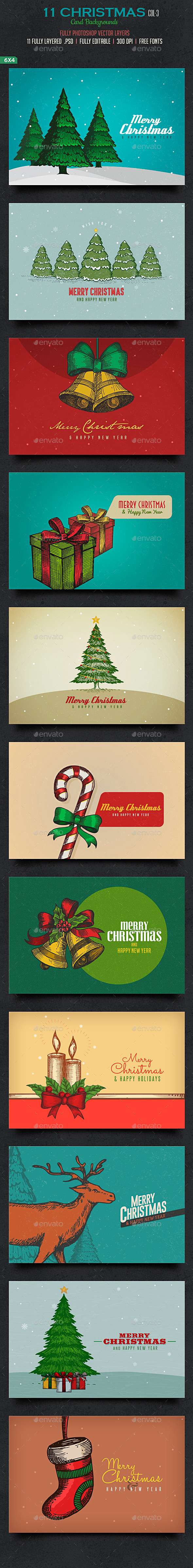 Christmas Card/Backgrounds -Col3