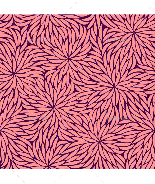 Abstract Pink Flowers Seamless Pattern - Patterns Decorative