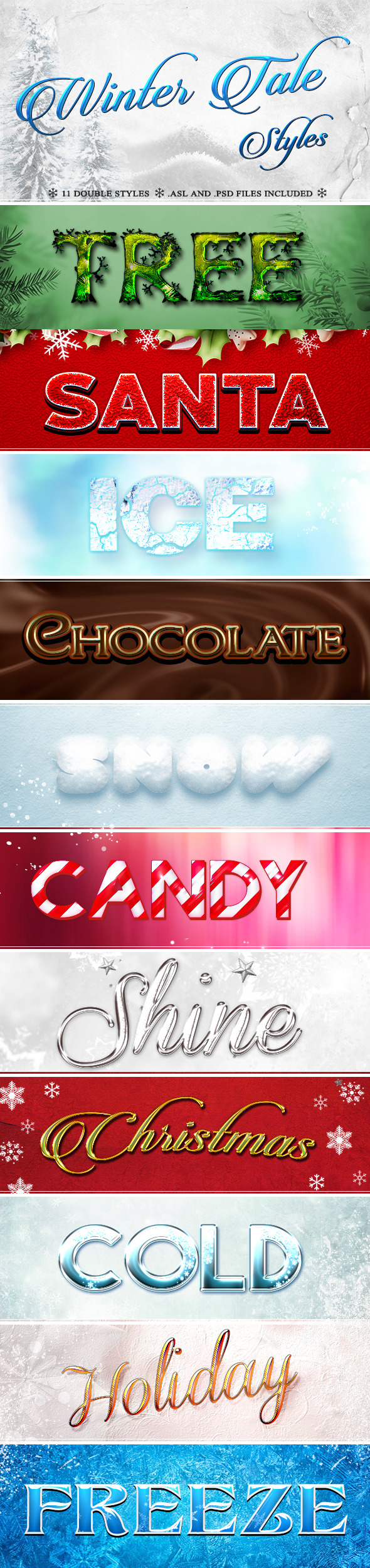 Winter Tale Styles - Text Effects Styles
