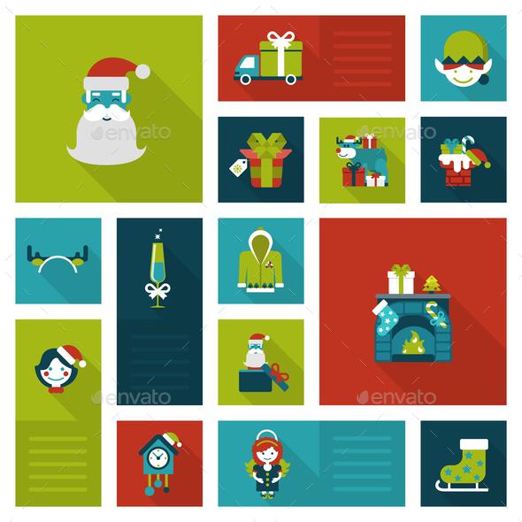 Christmas New Year Icon Set - Christmas Seasons/Holidays