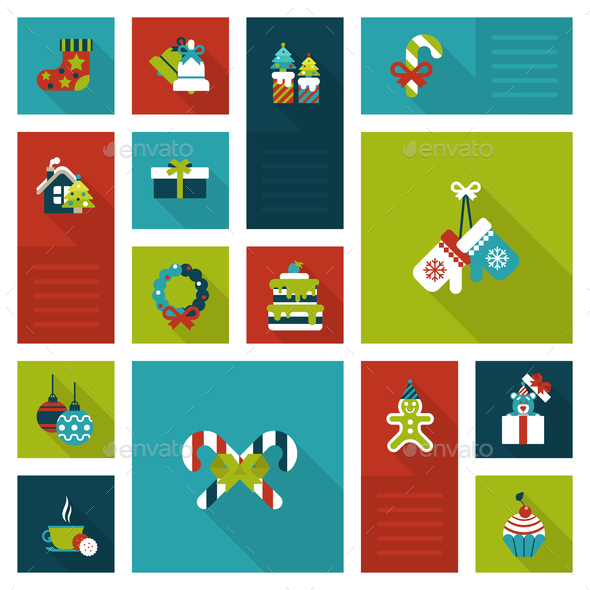 Christmas New Year Icon Set - Christmas Seasons/Holidays