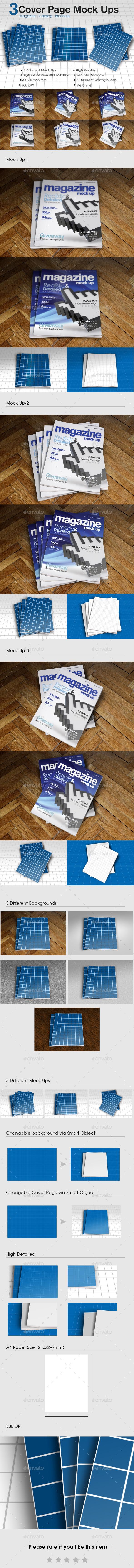 A4 Magazine / Catalog Mock Up - Magazines Print