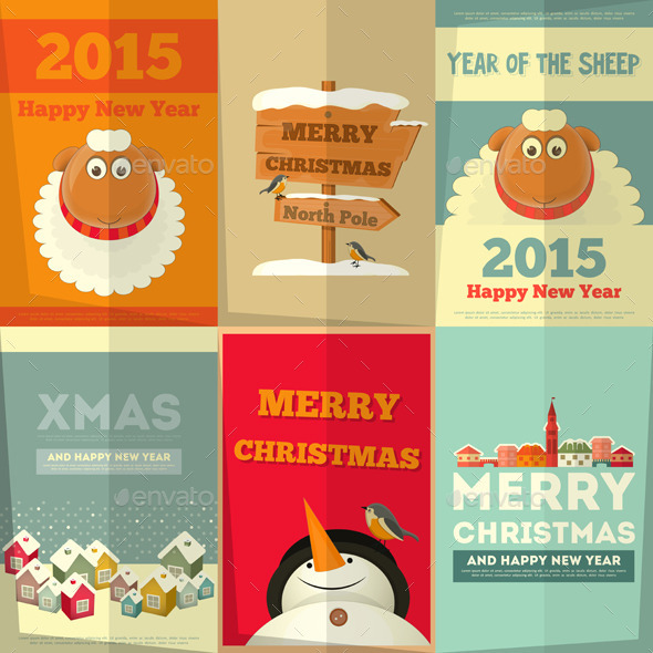 New Year Cards - Christmas Seasons/Holidays