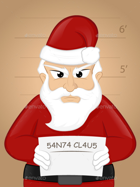 Santa Mugshot - Christmas Seasons/Holidays