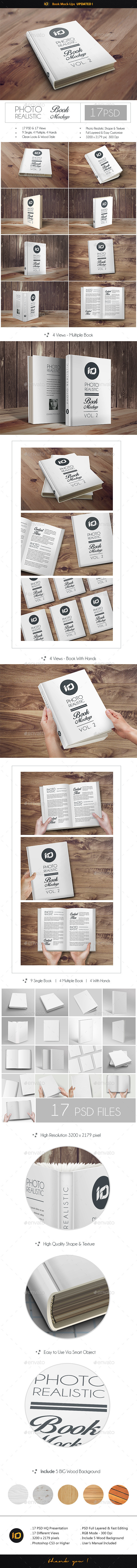 ID Book Mock-Up Photorealistic - Books Print