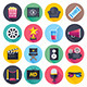 Movie and Theater Flat Icons - GraphicRiver Item for Sale
