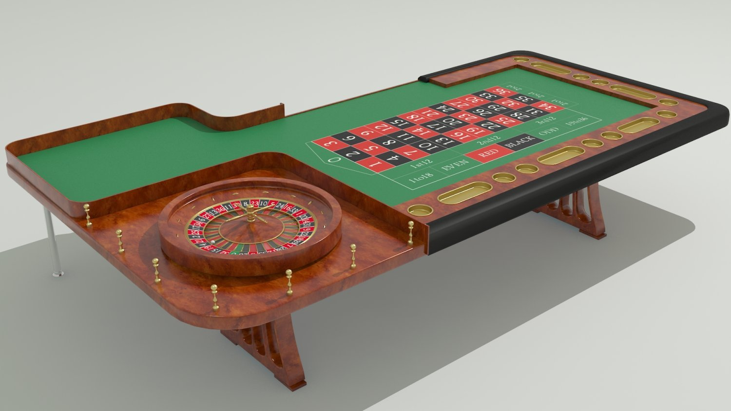 casino roulette table by gogita 3docean. Black Bedroom Furniture Sets. Home Design Ideas
