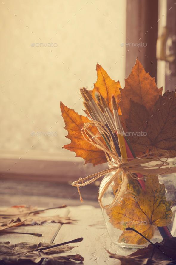 Autumn Art. - Stock Photo - Images