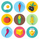 Organic Food Flat Icons - GraphicRiver Item for Sale