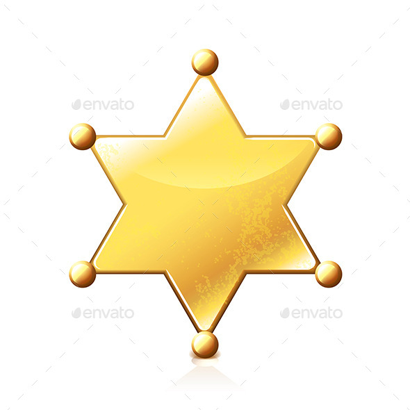Sheriff Star  - Miscellaneous Vectors