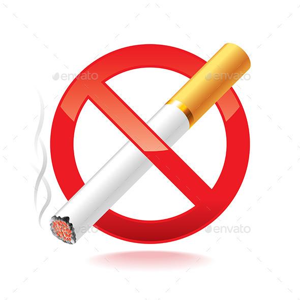 No Smoking Symbol - Health/Medicine Conceptual