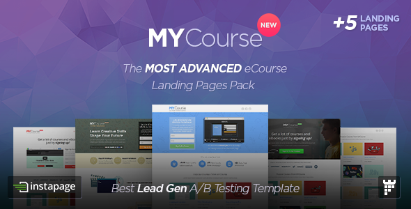 MYCourse - Instapage eCourse Landing pages Pack