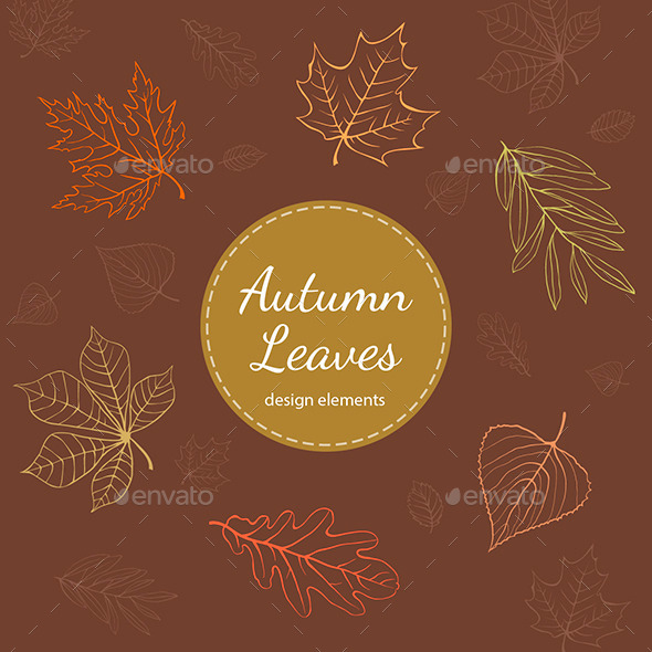 Autumn Leaves Vector Design Elements - Decorative Vectors
