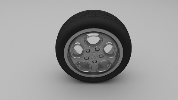 Porsche Wheel 5 - 3DOcean Item for Sale