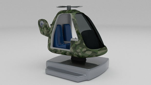 Army Kiddie Ride - 3DOcean Item for Sale
