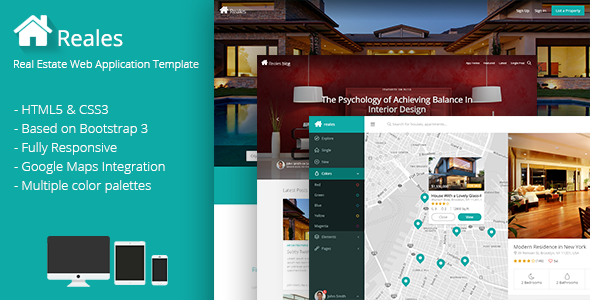 Reales – Real Estate Web Application Template
