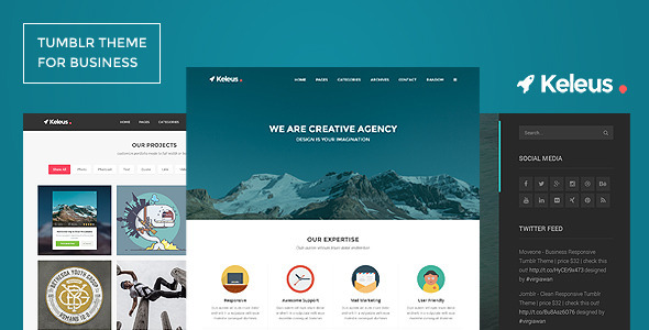 Keleus – Responsive Tumblr Business Theme