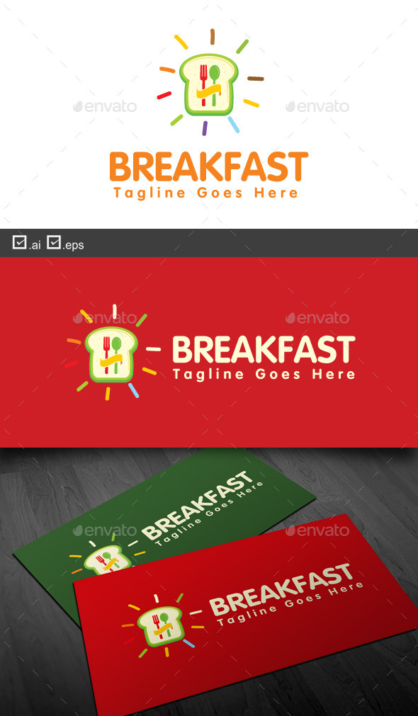 Breakfast - Food Logo Templates