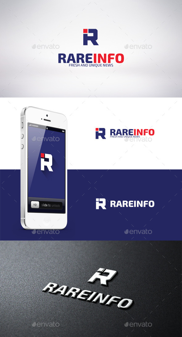 Rare Info Logo Template - Letters Logo Templates