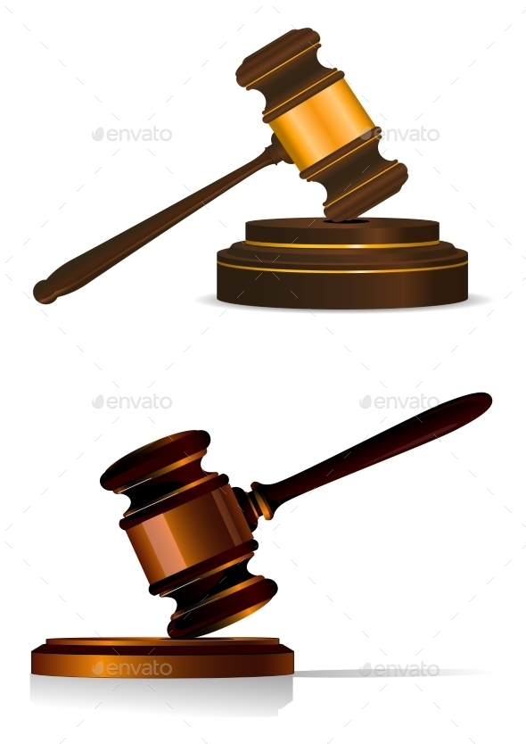 Judge Gavel - Objects Vectors