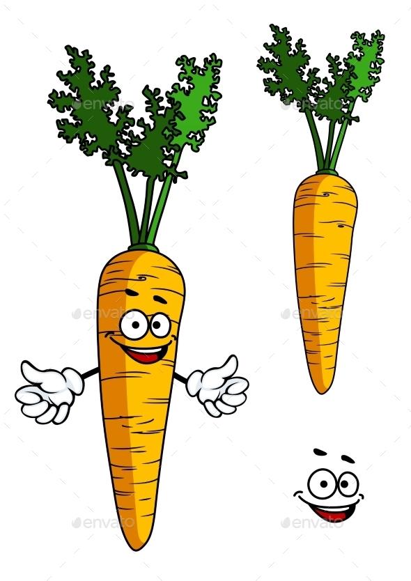 Carrot Cartoon - Food Objects