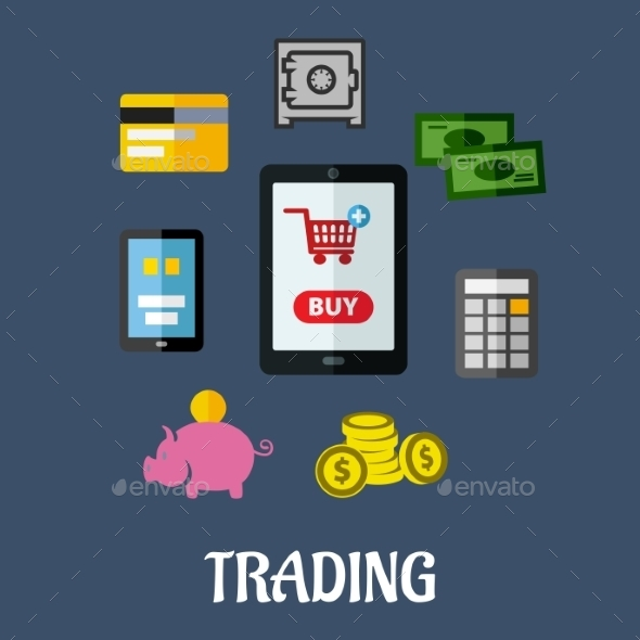 Online Trading Concept - Retail Commercial / Shopping