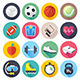 Sport and Fitness Flat Icons - GraphicRiver Item for Sale
